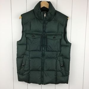 Men's Lands End Canvas 1963 Down Vest S Army Green